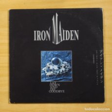 Discos de vinilo: IRON MAIDEN - LAY DOWN AND DIE GOODBYE - PORTADA CON DESGASTE - GATEFOLD - 2 LP. Lote 183831682