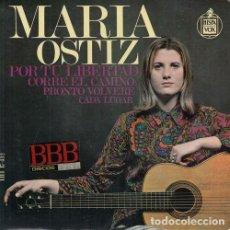 Discos de vinilo: MARIA OSTIZ - POR TU LIBERTAD - EP DE VINILO #. Lote 183845552