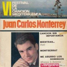 Discos de vinilo: JUAN CARLOS MOTERREY - CANCION SIN IMPORTANCIA - EP DE VINILO #. Lote 183845671