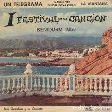 Discos de vinilo: JOSE GUARDIOLA - UN TELEGRAMA - EP DE VINILO #. Lote 183845796