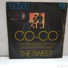 Discos de vinilo: SINGLE-THE SWEET-CO CO EN FUNDA ORIGINAL AÑO 1971. Lote 183848860