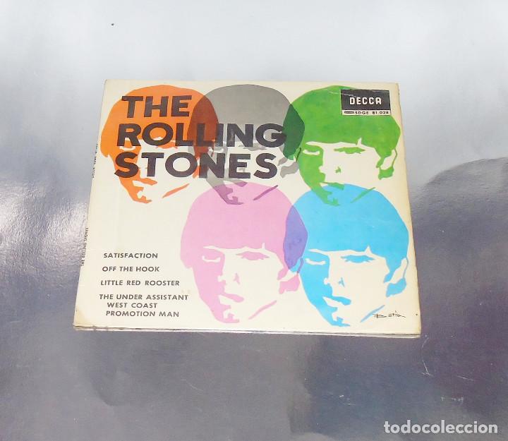 THE ROLLING STONES --SATISFACTION & OFF THE HOOK & LITTLE RED ROOSTER -- AÑO 1965 (Música - Discos de Vinilo - EPs - Pop - Rock Extranjero de los 50 y 60)