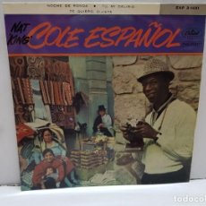 Discos de vinilo: SINGLE-NAT KING COLE-NOCHE DE RONDA EN FUNDA ORIGINAL AÑO 1958. Lote 183855833