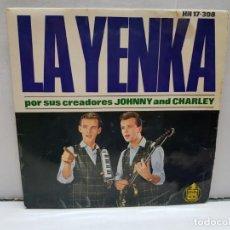 Discos de vinilo: SINGLE-LA YENKA- EN FUNDA ORIGINAL AÑO 1964. Lote 183857283