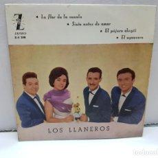 Discos de vinilo: SINGLE-LOS LLANEROS- EN FUNDA ORIGINAL AÑO 1961. Lote 183857478