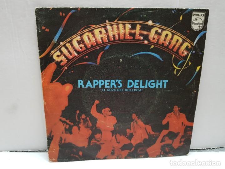SINGLE-SUGARHILL GANG- RAPPER'S DELIGHT EN FUNDA ORIGINAL AÑO 1980 (Música - Discos - Singles Vinilo - Pop - Rock - Internacional de los 70)