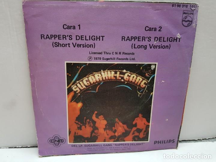 Discos de vinilo: SINGLE-SUGARHILL GANG- RAPPERS DELIGHT en funda original año 1980 - Foto 2 - 183857897