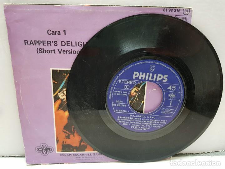 Discos de vinilo: SINGLE-SUGARHILL GANG- RAPPERS DELIGHT en funda original año 1980 - Foto 3 - 183857897