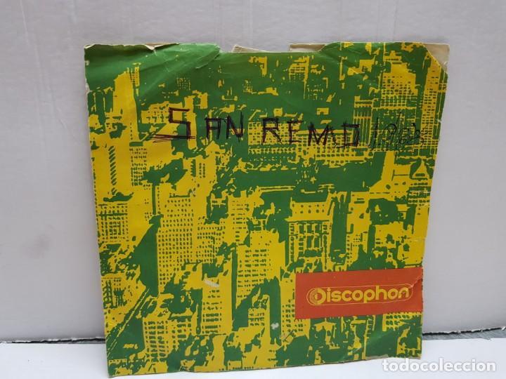 SINGLE-SAN REMO 1968- FUNDADOR EN FUNDA ORIGINAL (Música - Discos - Singles Vinilo - Pop - Rock - Internacional de los 70)