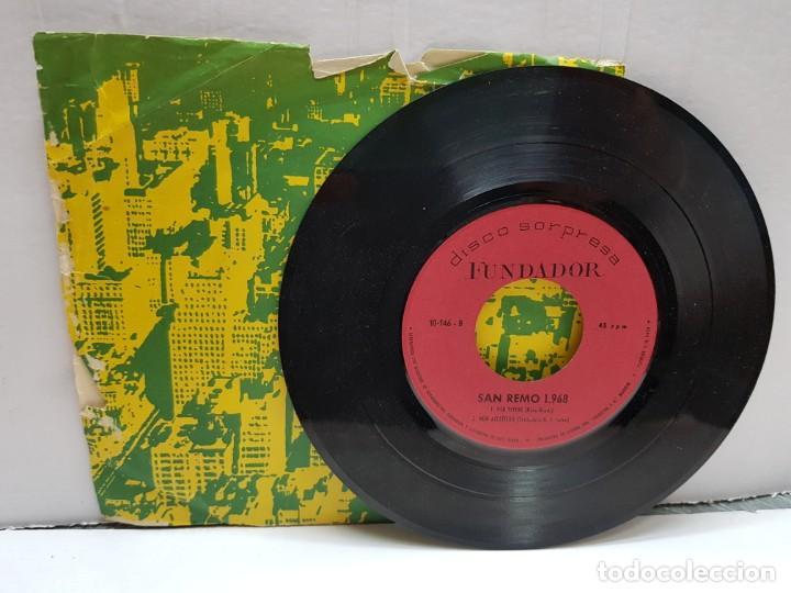 Discos de vinilo: SINGLE-SAN REMO 1968- FUNDADOR en funda original - Foto 3 - 183859530