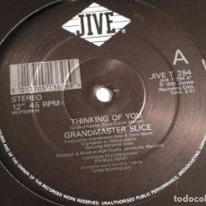Discos de vinilo: GRANDMASTER SLICE - THINKING OF YOU - 1991. Lote 183859665