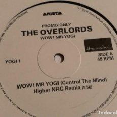 Discos de vinilo: THE OVERLORDS - WOW! MR. YOGI - 1993. Lote 183860141