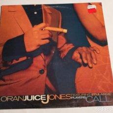 Discos de vinilo: ORAN 'JUICE' JONES FEATURING STU LARGE - PLAYERS' CALL - 1997. Lote 183860233