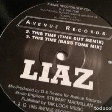 Discos de vinilo: LIAZ - THIS TIME - 1989. Lote 183860738