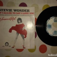 Discos de vinilo: STEVIE WONDER – I JUST CALLED TO SAY I LOVE YOU . Lote 183869183
