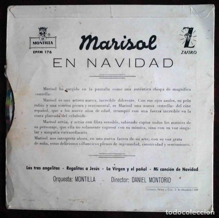 Discos de vinilo: Marisol en Navidad - EP con 4 temas - Zafiro 1960 - Foto 2 - 183869323
