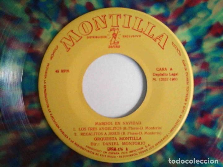Discos de vinilo: Marisol en Navidad - EP con 4 temas - Zafiro 1960 - Foto 4 - 183869323