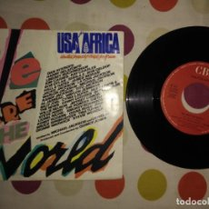Discos de vinilo: USA FOR AFRICA - MICHAEL JACKSON & LIONEL RICHIE – WE ARE THE WORLD . Lote 183869501