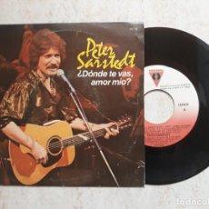 Discos de vinilo: PETER SARSTEDT DONDE TE VAS AMOR MÍO?1982. Lote 183880090