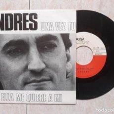 Discos de vinilo: ANDRÉS.UNA VEZ TU.1981.EDIGSA. Lote 183880871