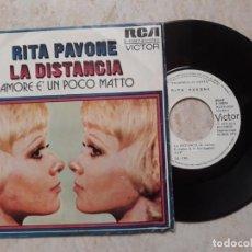 Discos de vinilo: RITA PAVONE,LA DISTANCIA ..PROMOCIONAL 1973. Lote 183881802
