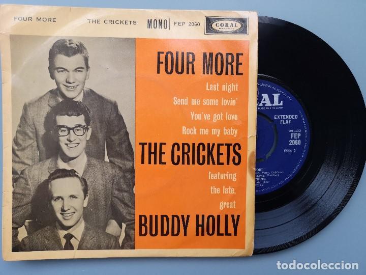 EP BUDDY HOLLY FOUR MORE THE CRICKETS ED INGLESA CORAL RECORDS 1960 FEP 2060 COCHRAN ELVIS VINCENT (Música - Discos de Vinilo - EPs - Rock & Roll)
