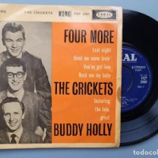Discos de vinilo: EP BUDDY HOLLY FOUR MORE THE CRICKETS ED INGLESA CORAL RECORDS 1960 FEP 2060 COCHRAN ELVIS VINCENT. Lote 183897078