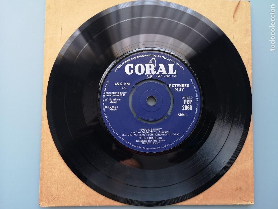 Discos de vinilo: EP BUDDY HOLLY FOUR MORE THE CRICKETS ED INGLESA CORAL RECORDS 1960 FEP 2060 COCHRAN ELVIS VINCENT - Foto 6 - 183897078
