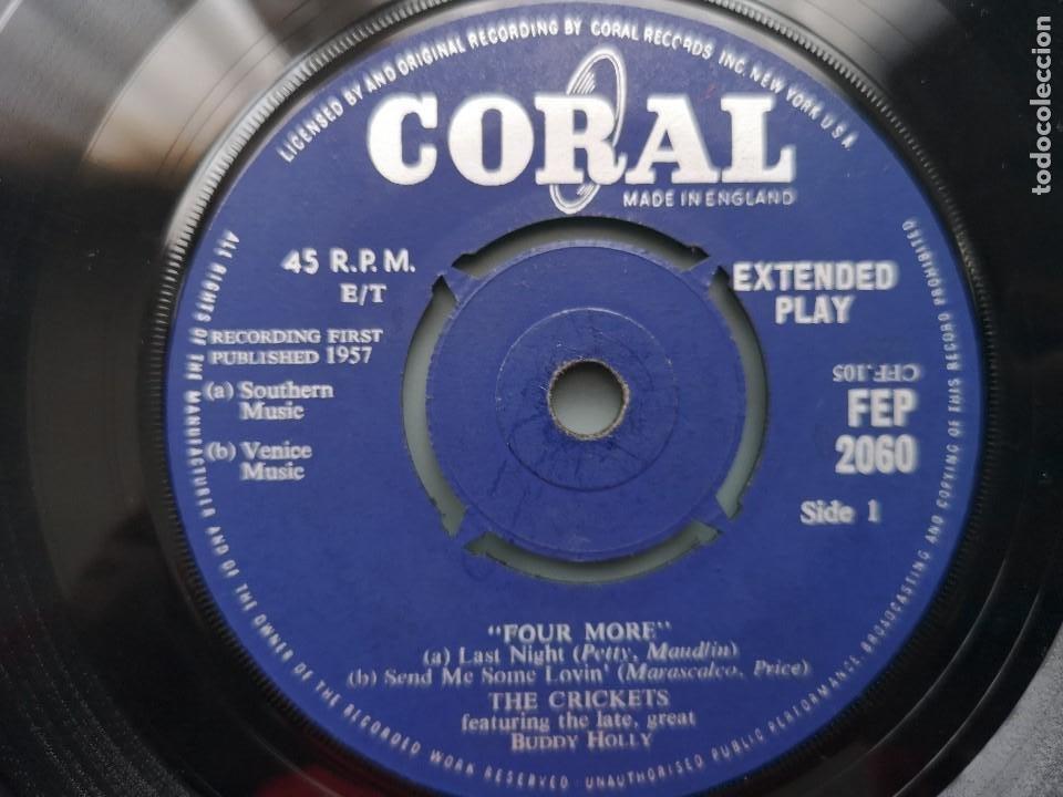 Discos de vinilo: EP BUDDY HOLLY FOUR MORE THE CRICKETS ED INGLESA CORAL RECORDS 1960 FEP 2060 COCHRAN ELVIS VINCENT - Foto 7 - 183897078