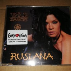 Discos de vinilo: RUSLANA WILD DANCES CD SINGLE PROMO TEMA UKRANIA 2004 FESTIVAL EUROVISION. Lote 183899025