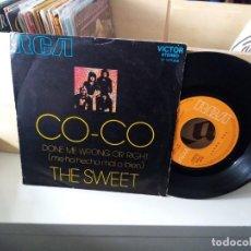 Discos de vinilo: THE SWEET – CO-CO. Lote 183906951