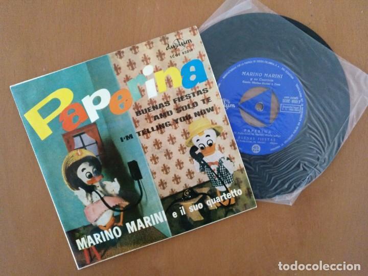 SINGLE MARIANO MARINI PAPERINA DURIUM (Música - Discos - Singles Vinilo - Canción Francesa e Italiana)