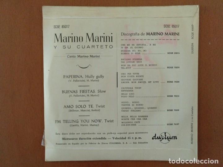 Discos de vinilo: SINGLE MARIANO MARINI PAPERINA DURIUM - Foto 3 - 183911852