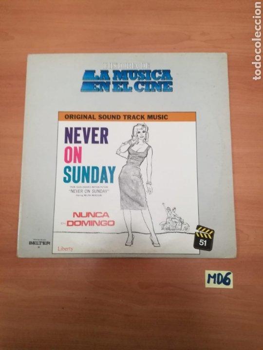 LA MÚSICA EN EL CINE NEVER ON SUNDAY (Música - Discos - LP Vinilo - Bandas Sonoras y Música de Actores )
