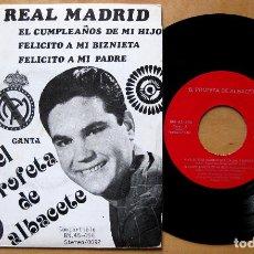 Discos de vinilo: EL PROFETA DE ALBACETE - VIVA EL REAL MADRID +3 - EP BARNAFON 1975 BPY. Lote 183919711