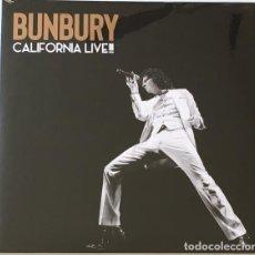 Disques de vinyle: BUNBURY - CALIFORNIA LIVE!!! (2LP 2019, GATEFOLD, OCESA 0190295458867) NUEVO Y PRECINTADO. Lote 210302357