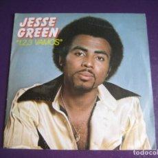 Discos de vinilo: JESSE GREEN SG MOVIEPLAY 1981 - 1,2,3 VAMOS +1 FUNK SOUL DISCO 70'S - SIN USO. Lote 183930843