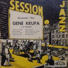 Discos de vinilo: GENE KRUPA - DRUMMIN' MAN - LP ESPAÑOL DE 10 PULGADAS - 25 CM #. Lote 194544671