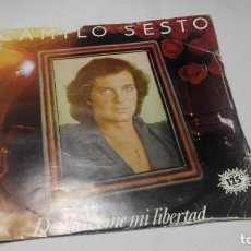Discos de vinilo: SINGLE - VINILO - CAMILO SESTO – DEVUÉLVEME MI LIBERTAD. Lote 183946597