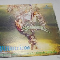 Discos de vinilo: SINGLE - VINILO - CORO Y RONDALLA ALEGRÍA – VILLANCICOS 1. Lote 183947857