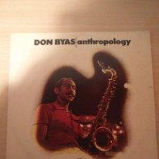 Discos de vinilo: DON BYAS - LP - ANTHROPOLOGY - BLACK LION RECORDS (1974). Lote 183952486