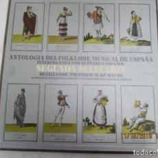 Discos de vinilo: ANTOLOGIA DEL FOLKLORE MUSICAL ESPAÑOL , INTERPRETADA POR EL PUEBLO ESPAÑOL 4 LP .VINILO SEGUNDA. Lote 183954735