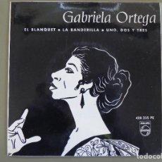 Discos de vinilo: GABRIELA ORTEGA: EL BLANQUET /LA BANDERILLA / UNO DOS Y TRES, EP PHILIPS 428 225 PE. SPAIN, 1959. EX. Lote 210481395