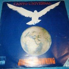 Discos de vinilo: JIMMY BROWNING, CANTO UNIVERSAL (ARIOLA) SINGLE ESPAÑA. Lote 183983276