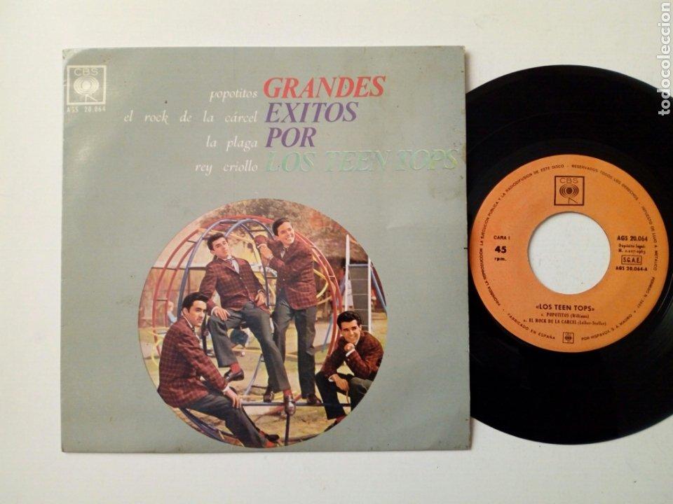EP - LOS TEEN TOPS - POPOTITOS + ROCK DE LA CÁRCEL + LA PLAGA + REY CRIOLLO (CBS, 1963) - E. GUZMAN (Música - Discos de Vinilo - EPs - Solistas Españoles de los 50 y 60)