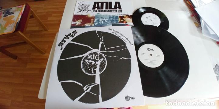 ATILA-LP THE BEGINNING OF THE END-REEDICION-INCLUYE SINGLE (Música - Discos - LP Vinilo - Grupos Españoles de los 70 y 80)