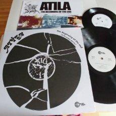 Discos de vinilo: ATILA-LP THE BEGINNING OF THE END-REEDICION-INCLUYE SINGLE. Lote 183983606