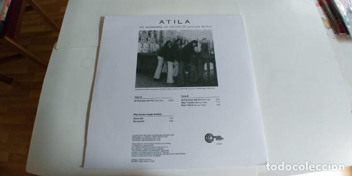 Discos de vinilo: ATILA-LP THE BEGINNING OF THE END-REEDICION-INCLUYE SINGLE - Foto 2 - 183983606