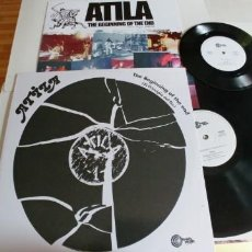 Discos de vinilo: ATILA-LP THE BEGINNING OF THE END-REEDICION-CONT.SINGLE. Lote 183987312