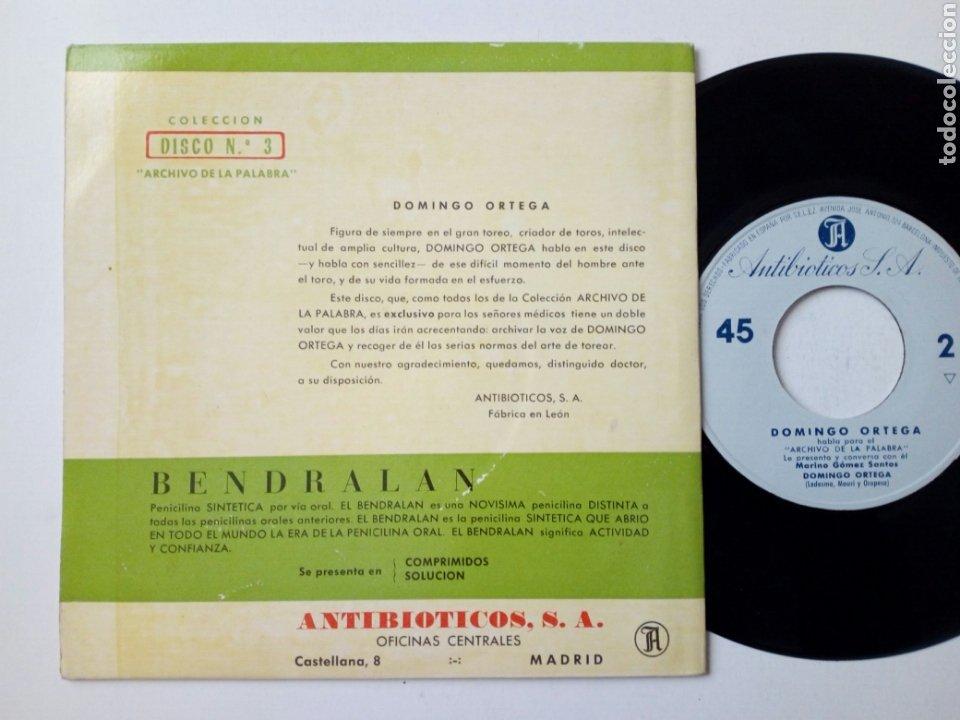 Discos de vinilo: DOMINGO ORTEGA - Habla para El Archivo de la Palabra 3 (1961) - disco de vinilo, single, RARO - León - Foto 2 - 183990815